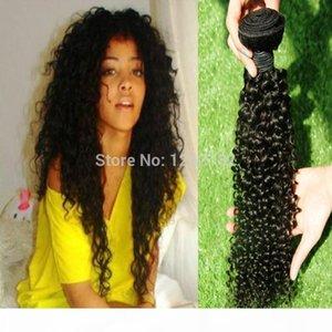 Fashions Women Love Jet Black Haavy Weave Brasil Virgin Virgin Profundo Cury Hair Extensiones de pelo brasileño sin procesar Tejidos de pelo 100 g