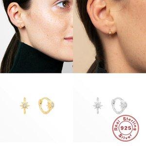 GS New Arrival Earrings For Women 925 Sterling Silver Ins Wind Hexagonal Hot Sale Stud Earrings Zircon Diamond Fine Jewelry