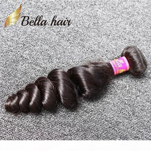 Bella Hair? 8A Cheap Brazilian Hair Weft 1pc lot Human Hair Bundle Natural Black Color Loose Wave Free Shipping 1 bundle retail
