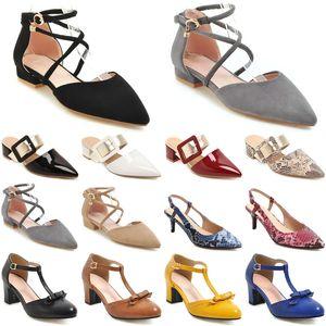 new luxury high heels fashion women casual shoes vintage Outdoor wedding triple black glitter Dress size 36-42