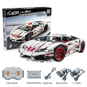 CADA 61018 1696pcs City RC Super Racing Car Bricks Technic MOC Model Building Blocks Remote Control Assembled Toys For Children