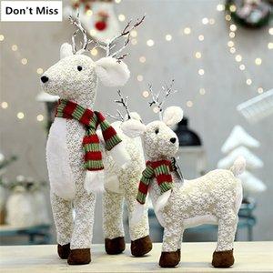 Figurine Regalo per bambini Renna Bambole Capodanno Decorazione Navidad Figurina Buon Natale 201130
