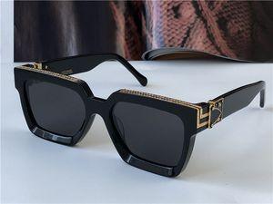 Nouveaux hommes Design Lunettes de soleil 96006 Millionaire Cadre carré Vintage Gold Shiny Summer Uv400 Lens Style Laser Top Qualité 1165