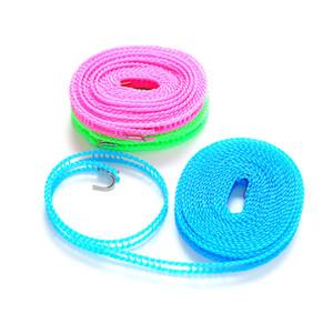 Cintres de vêtements à coupe-vent 3m / 5m corde en plein air Réglage réglable Force antidérapante Ligne de lavage durable Nylon 183 J2