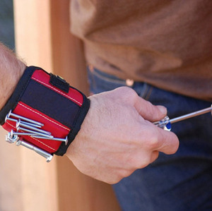 Magnetic Bracelets Practical Strong Chuck Wrist Toolkit Magnetic Wristband Pocket Tool Belt Pouch Bag Screws Holder Holding Tools LLA198