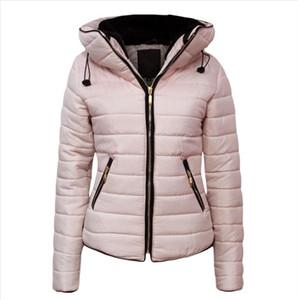 Fashion Women Bubble Coats Solid Hooded Oversized Short Jackets Winter Autumn Clothing Female Puffer Jacket Parkas Mujer