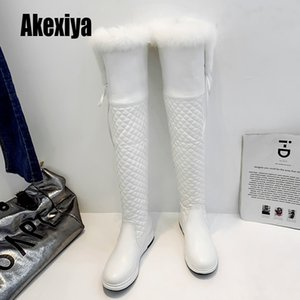 Over the Knee Boots Women Thick High Heel Boots Fashion Round Toe Thigh High Boots Warm Winter Shoes Faux fur keeps warm k868Z1204
