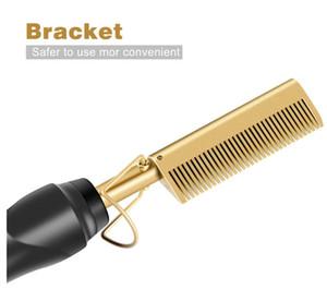 Plus récent peigne humide et sec lisseur électrique utilisation cheveux bigoudi fer cheveux alliage de titane environnement bigoudi Livraison gratuite