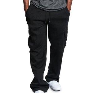Мужские повседневные брюки Фитнес эластичные брюки Мужчины Мужчины Бодибилдинг Спортивные брюки Сплошные Цвета Карманные Усверления Мужские Жулки My332