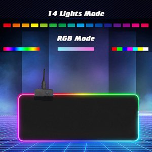 مضيئة RGB LED أضواء سطح المكتب الألعاب ماوس الوسادة وسادة الكمبيوتر التبعي