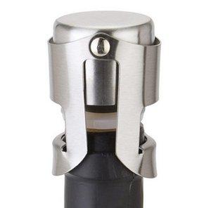 Stoppers de vinho de aço inoxidável Aspirador de garrafa de vinho selado de vácuo Plug Tipo de pressão Capa de Champagne