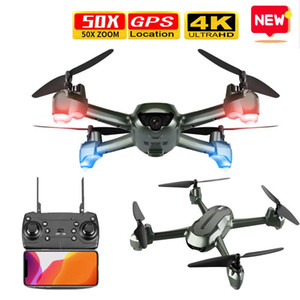 Smart GPS RC Drone With 4K Wide Angle Camera Optical Flow Positioning WIFI FPV Quadcopter Helicopter Drones Follow Me