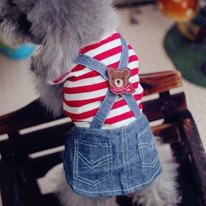 Cute Pets Clothes For Yorkshire Terrier Dogs Little Puppies Small Animals Breeds Striped Summer Wedding Princess Cats Dresses
