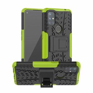Casos de telefone híbrido para OnePlus Nord N10 5G Case Macio TPU + PC Gel Armadura Kickstand Silicon OnePlus 5 5T 3T