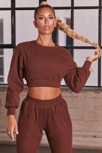 2020 Autumn Winter Seamless Sport Suit Strip Casual Gym Yoga Set Workout Clothes Quick Dry Fitness Suit Leisure 2 Piece Set