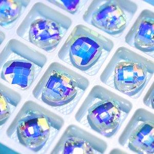 Miglior qualità 16x9mm crystal ab perline perline di vetro perline lucido Gens Strass per gioielli per la produzione di collane orecchini fai da te 28pcs / pack