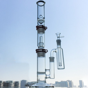 Glass Bong 3 Chambers Water Pipes Comb Disc Build A Bong Pipe Bongs Glass Oil Dab Rigs Dome Showerhead With Ash Catcher Straight Tube WP522