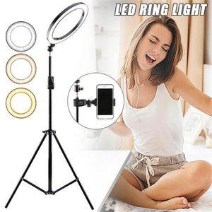 Selfie Video Dim LED Kamera Aydınlatma Canlı Tripod Dolduru Aydınlatma Lambası Fotoğraf Standı Stüdyo Ring Telefon Fotoğraf Işık JLPCB