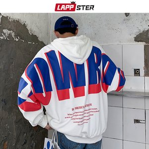 LAPPSTER Men Japanese Streetwear Hip Hop Hoodies 2020 Autumn Korean Oversized Sweatshirts Hooded Hoodies Patchwork Clothing 5XL Y1109