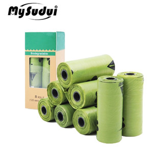 MySudui Rolls BiOseGradable Pet Dog Poop Bags Health-Footle Buate Bage Bag Leak Poggie Totts Thrash Bags Открытая Уборка 201218