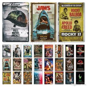 2021 Classic Movie Metal Signos Muro Cartel de la pared Signo de hojalata Placa Retro Película Vintage Decoración de la pared para Bar Pub Club Man Cave Store Steels 20x30cm