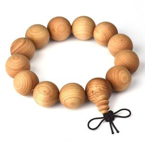 Natural Thuja Prayer Beads Bracelet Elastic Women & men Buddha Bracelet Buddhist Prayer beads 15 18 20 MM