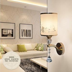 Modern crystal wall lamp gold sconce lights AC110V 220V fashion  lustre living room bedroom light fixtures