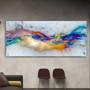 Wangart Güzel Bulut Soyut Yağlıboya Sanırım Indepmende Duvar Resmi Oturma Odası Için Tuval Modern Sanat Poster ve Baskı