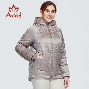 Astrid New Autumn Winter Women's coat women Windproof warm parka Plaid fashion Jacket hood large sizes female clothing 9385 201123