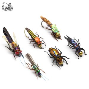 Realistic Fly Fishing Flies Set 16 18pcs Dry Wet Flies Insect Lure for Bass Fishing Assortment Flyfishing Trout Lure kit Q1123
