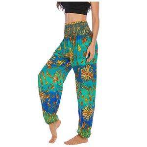Koşu Pantolon Rahat ve Formfutting Yoga Pantolon Thai Harem Pantolon Boho Festivali Hippy Smock Yüksek Bel Yoga # 4