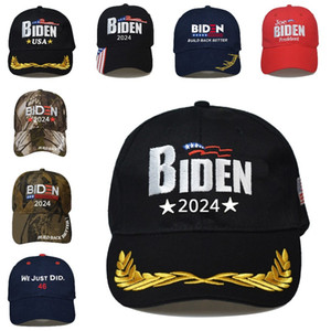 Biden 2024 Hat Presidential Election Cotton Baseball Cap Adjustable Build Back Better Biden Harris Outdoor Ball Cap Sea Shipping DDA835