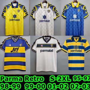 Retro Vintage Maglie Maglie Parma 1998 1999 2000 Crespo Ortega Buffon Thuram Camisa de Fútbol 95 97 98 99 Jersey de fútbol Camiseta Futbol Camisa