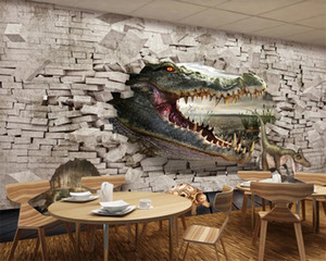 Cartoon Animal 3d Wallpaper Crocodile Dinosaur Turtle 3D Stereo Painting Background Wall HD Photo 3d Wallpaper Mural