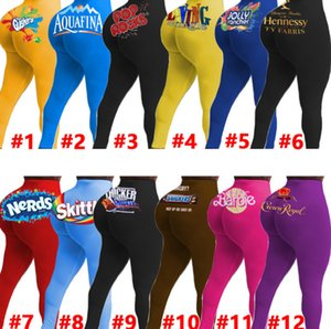 Women Pants Yoga Sexy Slim Personalise Pattern Letters Printed Leggings Ladies New Fashion Tight Trousers Clothing 2020 Ty
