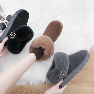 Snow boots women's short tube 2020 winter new short boots Korean version versatile student cotton shoes women's Plush thermal boots fashion