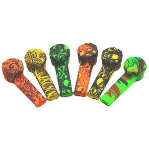 2021 Cross-border hot sale European and American hot style silicone printing pipe environmental protection portable pipe smoking pipe