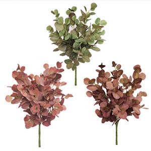 3 ألوان 90 سنتيمتر eucalyptus يترك زهرة الاصطناعي يترك مكتب المصنع الاستوائية / المنزل / نباتات الزفاف حديقة المنزل مكتب الديكور DHE3400