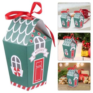 10pcs Paper Christmas Gift Bag Kraft Paper Gift Box Creative Hand Candy Bag Candy Box Biscuit Cow Snowflake