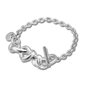 Pandulaso Woman Bracelets Knotted Heart Bracelet Sterling Silver Jewelry European Style Fashion Female Jewelry J190706