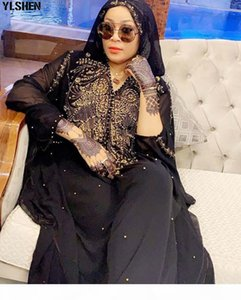 African Dresses for Women Dashiki African Clothes Diamond Beads Abaya Dubai Robe Grand Boubou Africain Muslim Dress Hooded Cape