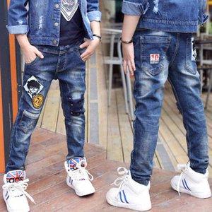 Autumn Boys Pants desgaste nova Crianças Jeans Boys Jeans meninos e meninas Calças Jeans queda Wear Moda Infantil 2020