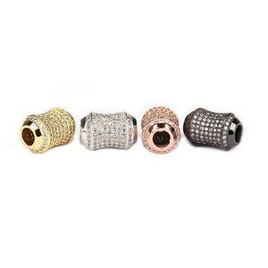 stone pen drum luxury Popular ballpoint copper white zircon large hole European Style Charm Bracelet