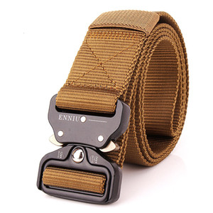 La nouvelle boucle de libération d'Enniu 3.8cm Boucle de sécurité rapide Secure Safety Training Pure Nylon Tactical Belt Tactical
