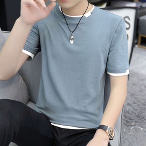 2020 summer new men's casual loose solid short sleeve round neck T-shirt