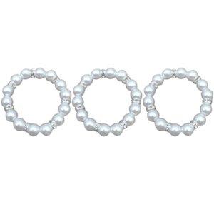3 Pcs Lightweight Practical Portable Durable Napkin Buckle Napkin Ring for Restaurant Hotel