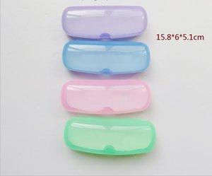 Grandes lunettes de soleil en plastique Caisselles transparentes et colorées de lunettes de soleil polarisants de lunettes de lunettes de lunettes de lunettes myopie boîte de lunettes plates à lèvres plates