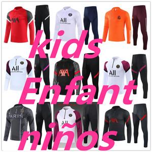 21 kids training suit psg jordan nike equipe de france real madrid barcelone paris 2020 2021 survetement foot enfant Survêtement de football soccer tracksuit