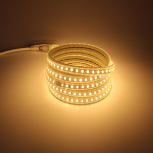 IP67 Waterproof LED Strip Light AC 220 V 5730 120 led m with EU Power Cord 4000K 6000K 3000K Warm   Cold White Decorative Lighting Strips