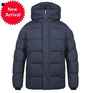 Tiger Force Men's Winter Winter Jacket Mid-Length Moda Parka Men Down Com Hooded Casual Engrossar Overcoat Quente 70750